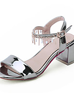 Women's Shoes  Chunky Heel Heels / Peep Toe Sandals Casual Pink / Silver / Gold / Almond