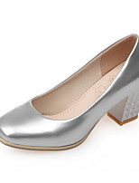 Women's Shoes Leatherette Chunky Heel Heels Heels Office & Career / Dress / Casual Blue / Pink / White