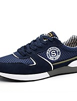 Men's Shoes Outdoor /Office & Career/Athletic/Dress /Casual Nappa Leather / Tulle Fashion Sneakers Blue/Red/Gray