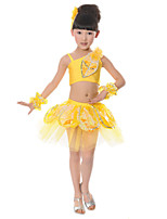 Performance Children's Performance Spandex Flower(s) 4 Pieces Outfits Dance Costumes
