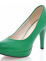 Zapatos de mujer-Tacón Stiletto-Tacones-Tacones-Boda / Oficina y Trabajo / Fiesta y Noche-Semicuero-Negro / Amarillo / Rojo