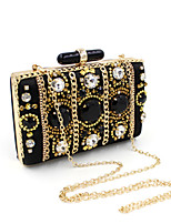 L.WEST® Women's Handmade Gem Diamonds Metal Chain Party/Evening Bag