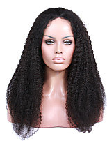 8A Remy human hair 8-24inches Natural Kinky Curly full or lace front  Celebrity Style Wigs for Women