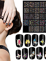 24Pcs  Butterfly Animals 3D Stamping Nail Stickers Bronzing Nail Art Decals Multicolor Nail Tips Manicure Decoration