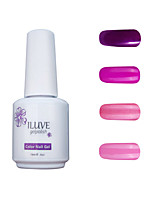 ILuve Gel Nail Polish Set - Pack Of 4 - Long Lasting 3 Weeks Soak Off UV Led Gel Varnish – For Nail Art #4042