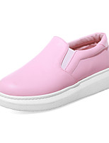 Women's Shoes Platform Platform / Creepers / Round Toe Loafers Outdoor / Dress / Casual Pink / White