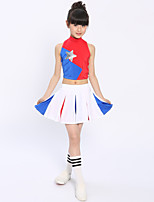 Cheerleader Costumes Children's Performance Polyester Pleated 2 Pieces Outfits