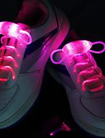 fresco deslumbra el color Noctilucence llevó cordones de los zapatos