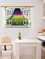 Florales / Paisaje / 3D Pegatinas de pared Calcomanías 3D para Pared,PVC 90*60cm