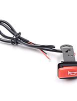 1pcs 2016 de alta calidad interruptor de la bocina 12v de la motocicleta