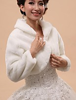 Wedding / Party/Evening Faux Fur Capelets Long Sleeve Wedding  Wraps / Fur Wraps / Hoods & Ponchos