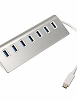 TYPE C USB3.1 To 7 Ports Aluminum USB 3.0 Hub Portable Hub for Apple Macbook Pro Mac PC Laptop Transfer up 5Gbps