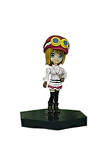 One Piece Anime Action Figure 8CM Model Toy Doll Toy (4 Pcs)