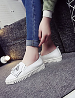 Women's Shoes Leather Flat Heel Comfort / Closed Toe Loafers Casual White