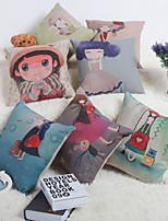 Baolisi Set of 7  Flower Girl Decorative Pillow /Children of the World
