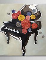 mini størrelse e-home oliemaleri moderne klaver ren hånd tegne rammeløse dekorative maleri