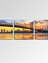 VISUAL STAR®Modern Franklin Bridge Canvas Prints Home Decoration Cityscape Wall Art Ready to Hang