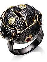 Unique Black Dome Engagement rings Brand New Black Gold Plated Environmental Friendly Lead Free Party Ring