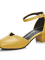 Women's Shoes Chunky Heel Heels / Square Toe Heels Office & Career / Dress / Casual Black / Yellow / White