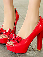 Women's Shoes Stiletto Heel Heels/Peep Toe/Platform Heels Party & Evening/Dress Black/Red/White