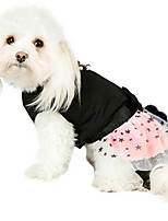 Dog Dress Black / Green / Pink Winter / Summer / Spring/Fall Pearl / Stars Fashion