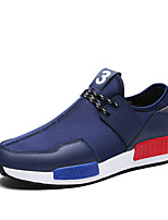 Men's Shoes Outdoor / Athletic Fleece / Fabric Fashion Sneakers / Athletic Shoes Black / Blue / Red