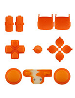 Replacement Controller Case Assembly Kit Set for PS3 Controller Orange/Purple/Pink