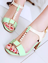 Women's Shoes Chunky Heels/Sling back/Open Toe Sandals Party & Evening/Dress Blue/Green/Pink/White