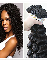 3Pc/Lot Indian Hair Weft Deep Wave Natural Color 100% Human Hair Bundles Hair