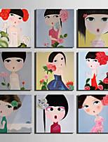 Personas / Caricatura Impresión de la lona Un Panel Listo para colgar,Cuadrado