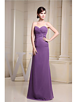 Floor-length Chiffon Bridesmaid Dress-Regency Sheath/Column Sweetheart