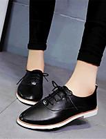 Scarpe Donna-Sneakers alla moda-Tempo libero / Casual-Comoda-Piatto-Finta pelle-Nero / Blu / Bianco