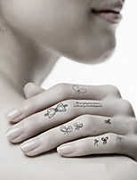 Fashion Temporary Tattoos Sexy Body Art Waterproof Tattoo Stickers Tie 5PCS