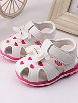 Baby Shoes Dress / Casual Leather Fashion Sneakers Pink / White