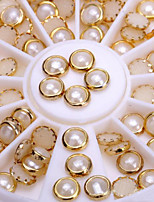 3d Nail Art White Pearl Shape Jewelry Decorations For Nails Art Accessories