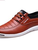 Zapatos de Hombre-Sneakers a la Moda-Casual-Cuero-Negro / Marrón / Rojo