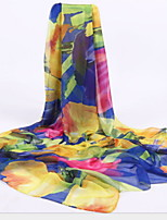 Printed Silk Chiffon Scarf Female Sun Oversized Beach Towel Scarves Shawl