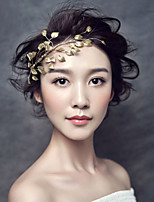 Bride's Leaves Shape Beads Wedding Accessories Headbands  1 Pieces