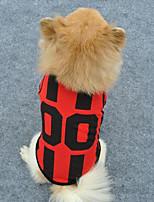 Hunde T-shirt / Weste Rot / Weiss / Blau / Orange Sommer / Frühling/Herbst Klassisch / Sport Modisch-Lovoyager