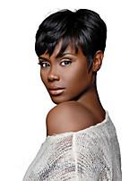 Rihanna Chic Cut Short Wigs Natural Black Brazilian Virgin Remy Hair Capless Human Hair Wigs