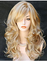 Popular! Top Quality Blonde Color Long Curly Synthetic Wigs
