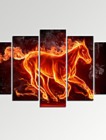 VISUAL STAR®Abstract Running Horse in Fire Canvas Art Home Decor Print Art Ready to Hang