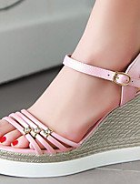 Women's Shoes Wedges Heels/Sling back/Open Toe Sandals Dress/Casual Pink/Purple/White/Gold