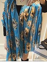 women Korean Spell Color Fashion Mirror Beautiful Fairy Tale World Cotton Twill Printed Silk Scarves