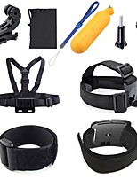 Gopro Accessories 9 in 1 Set xiaomi yi Adapter Floating Bobber Wrist Chest Strap J Hook for Hero 4 3+