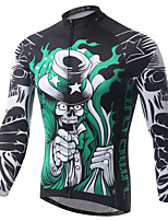 Jersey(Verde) - deCiclismo / Motorbike-Homens-Respirável / Resistente Raios Ultravioleta / Secagem Rápida / wicking / Antibacteriano- com