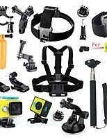Xiaomi Yi Accessories 24 in 1 Wateraproof Case Protective Border Frame Chest Belt Mount Monopod For Xiao yi