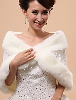 Wedding / Party/Evening Faux Fur Capelets Sleeveless Wedding  Wraps / Fur Vests / Hoods & Ponchos