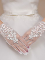 Wrist Length Fingertips Glove Lace / Tulle Bridal Gloves / Party/ Evening Gloves