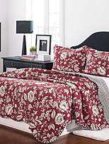 100% Baumwolle Art und Weise 3 Stücke Bettdecke Satz gesteppt, Queen-Size